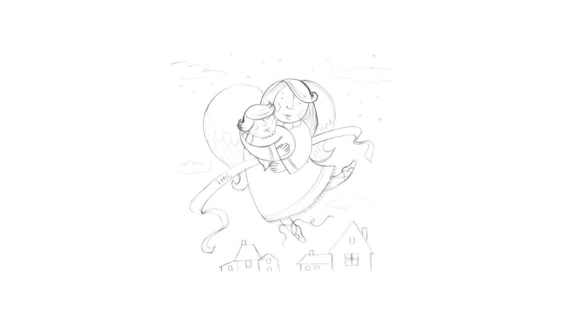 szkic anioł