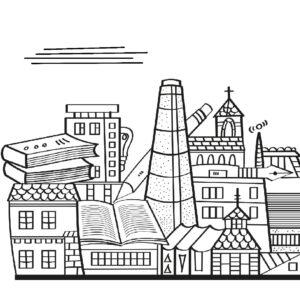 Ilustracja miasta na stronę www